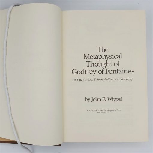 Metaphysical Thought of Godfrey of Fontaines (1)