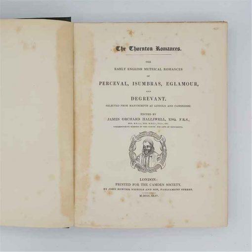 Thornton Romances - Perceval, Isumbras, Eglamour & Degrevant - Halliwell (2)